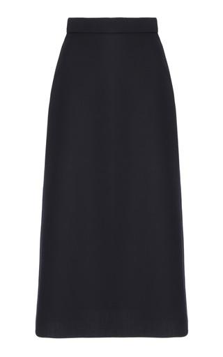 Medium edeline lee navy high waisted a line skirt