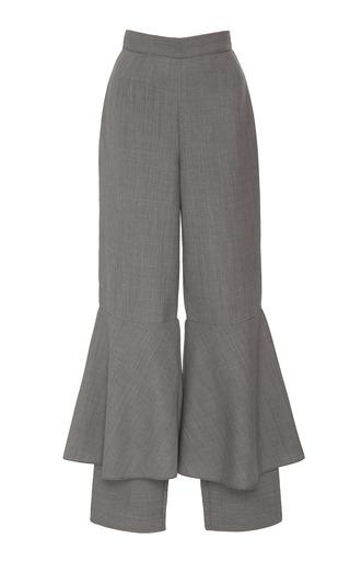 Medium edeline lee grey ogee flared trousers