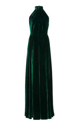 Medium raquel diniz green amber halter long dress