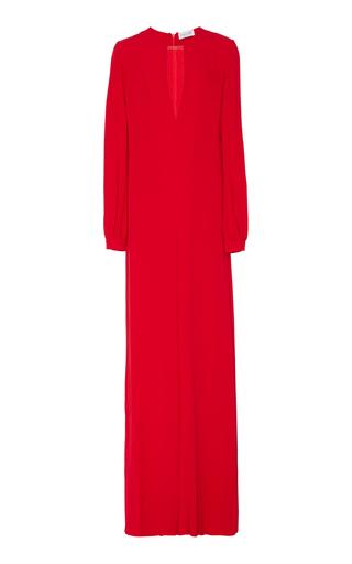 Medium raquel diniz red chaya v neck dress