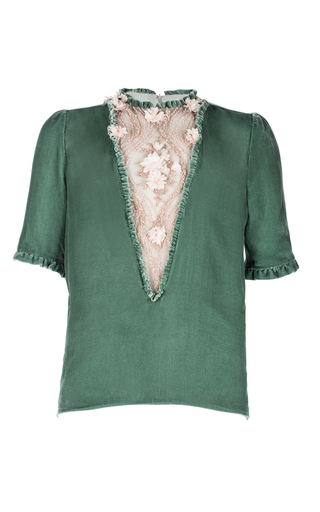 Medium ezgi cinar green aphrodite blouse