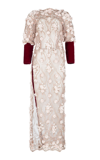 Medium ezgi cinar pink aphrodite long dress