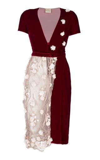 Medium ezgi cinar burgundy aphrodite wrap dress
