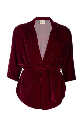 Medium ezgi cinar burgundy eos pyjama blouse