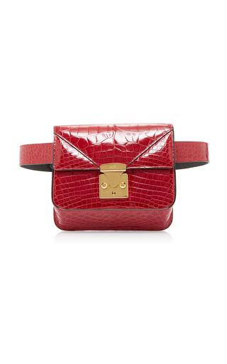 Medium stalvey red alligator belt bag