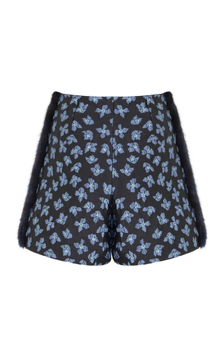 Medium razan alazzouni navy mink stripe shorts