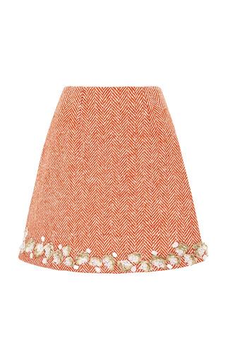 Medium razan alazzouni orange embellished a line skirt