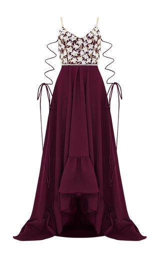 Medium razan alazzouni burgundy embellished gown