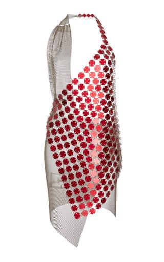 Medium fannie schiavoni red mesh scale bi color dress