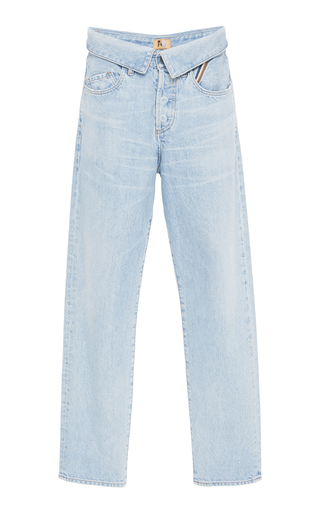 Medium jean atelier blue flip top boyfriend jean