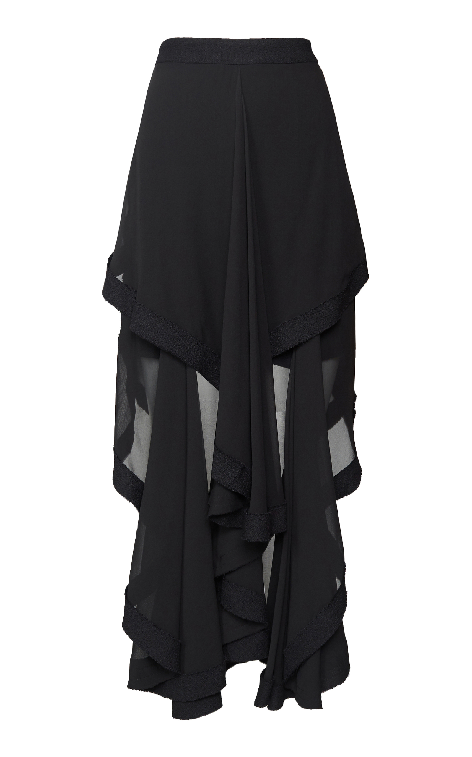 footage tibi filament drapes skirt black jersey products draped