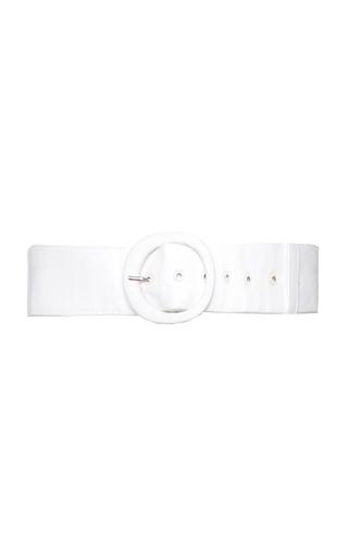 Medium kitx white covered o belt