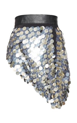 Medium kitx silver metal disc sequin belt