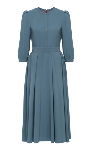 Medium ulyana sergeenko demi couture blue a line midi dress