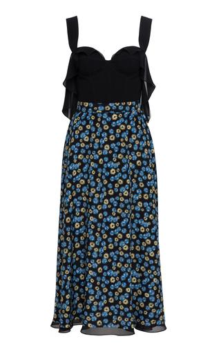 Medium ulyana sergeenko demi couture blue floral cocktail dress