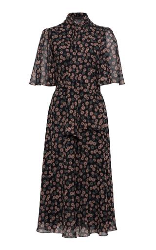 Medium ulyana sergeenko demi couture print flutter sleeve dress