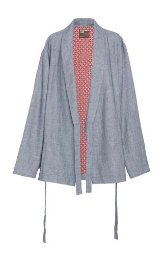 Medium kayomo lab blue belted kimono jacket
