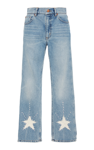 Medium bliss and mischief blue stardust jeans