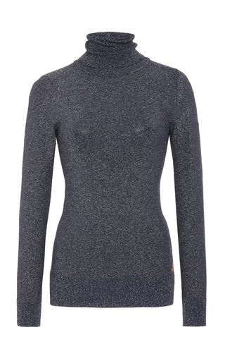 Medium joos tricot navy turtle neck knit top