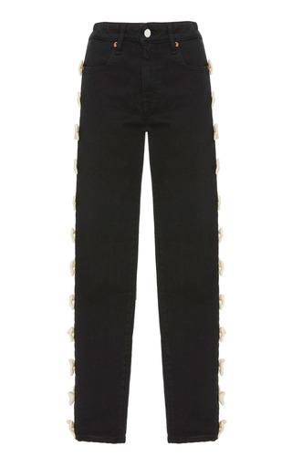 Medium tu es mon tresor black ribbon jeans