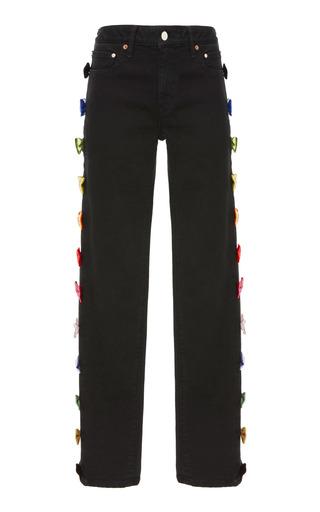 Medium tu es mon tresor black rainbow ribbon jeans