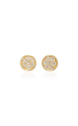Medium sydney evan gold baby disc earrings