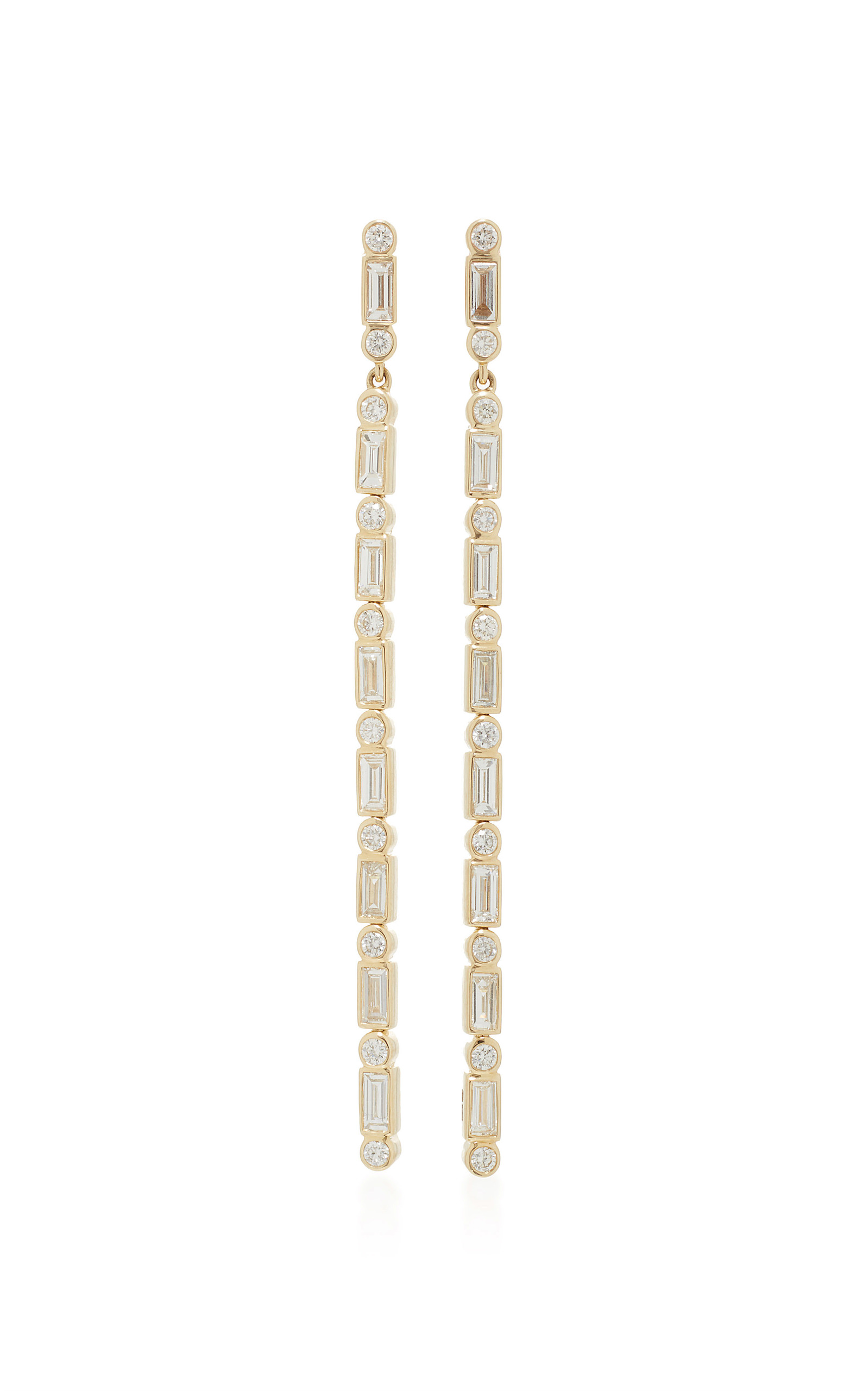 Sydney Evan Baguette Diamond Chain Drop Earring 6arN3hlemT