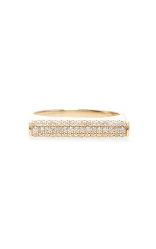 Medium sydney evan gold full pave roll ring