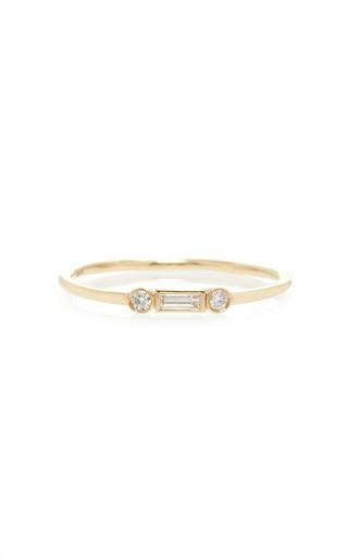 Medium sydney evan gold baguette and round diamond ring