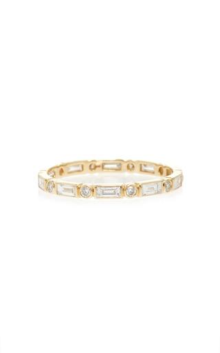 Medium sydney evan gold baguette and round bezel eternity ring