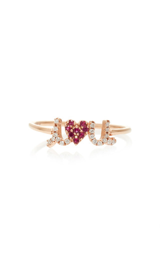 Medium sydney evan red small i love you ring