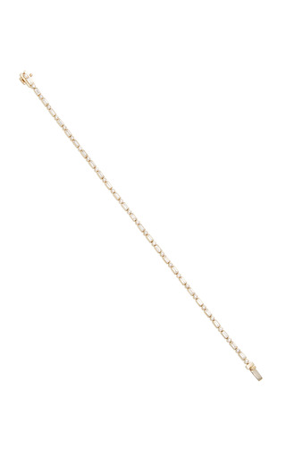 Medium sydney evan gold baguette and round bezel eternity bracelet