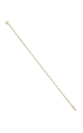 Medium sydney evan gold baguette and round bezel eternity bracelet
