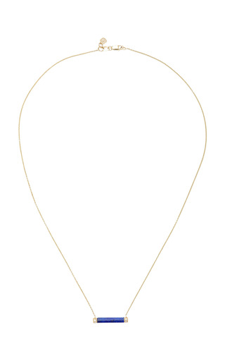 Medium sydney evan blue lapis bar necklace