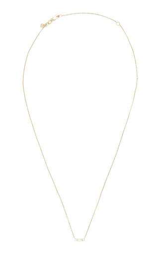 Medium sydney evan gold baguette and round bezel necklace