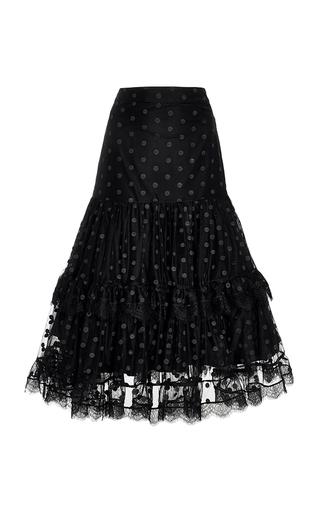 Medium alexis black petra point d esprit skirt