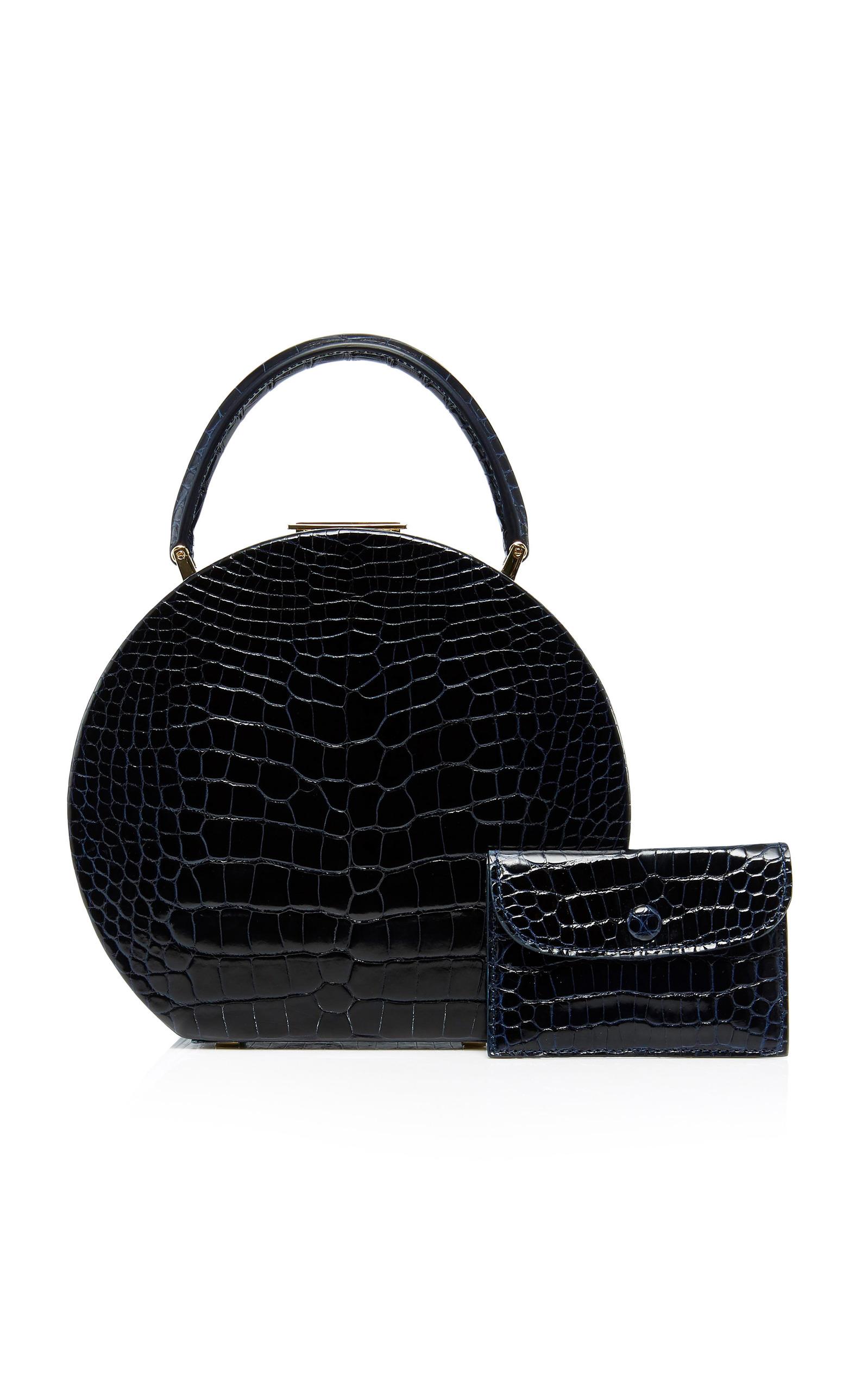 BU Wood 14cm Black Leather Bumi Bag giSrP8O