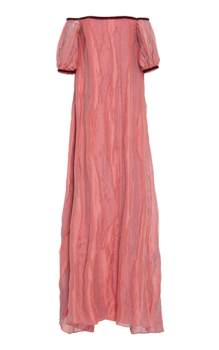 Medium markarian pink marie woodcut gown