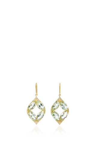 Medium jamie wolf green marquis pave point earrings with green amethyst and white diamonds
