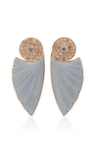 Medium ioanna souflia grey bardiglio marble earrings