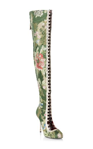 Medium rubeus milano green cuissard lampasso brocade boot