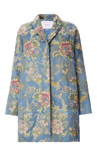 Medium rubeus milano blue brocade lampasso coat