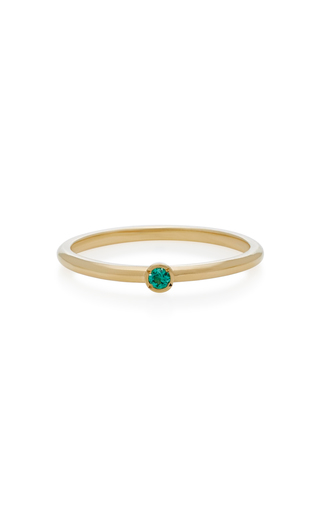 OCTAVIA ELIZABETH | Octavia Elizabeth 18K Gold Emerald Ring | Goxip