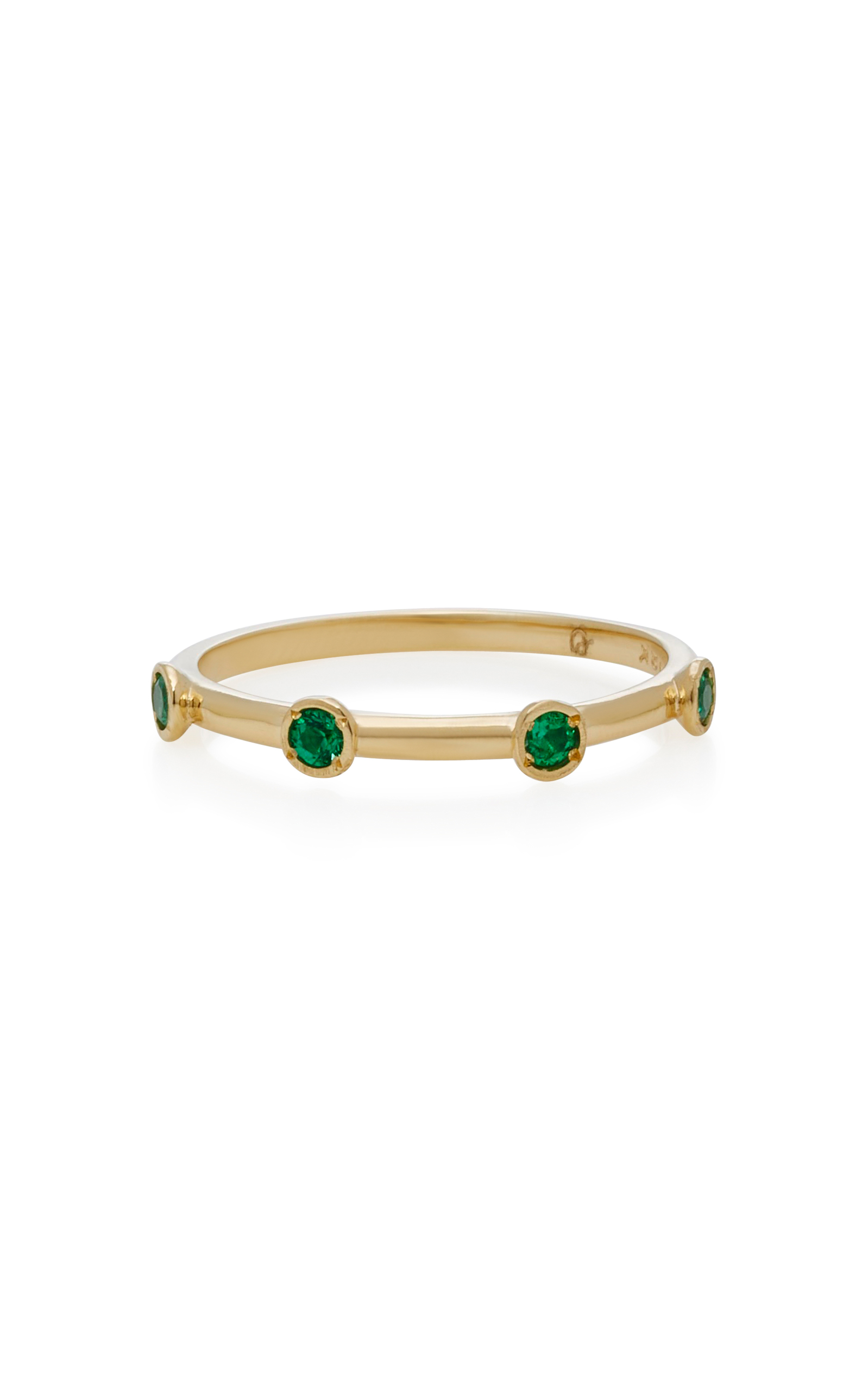 OCTAVIA ELIZABETH 18K GOLD EMERALD RING