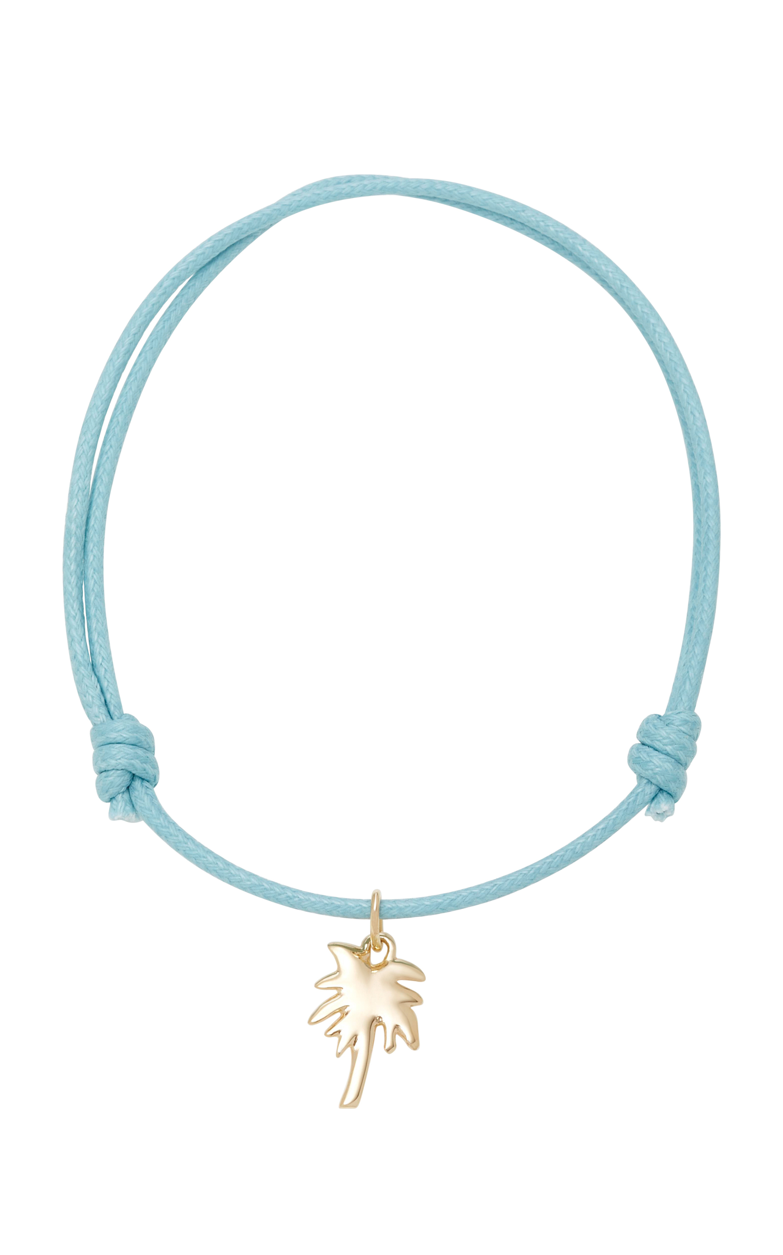 WITH LOVE DARLING PALM TREE 18K GOLD CORD BRACELET