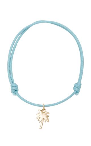 Olive Branch 18K Gold Cord Bracelet With Love Darling i6OMRFsj