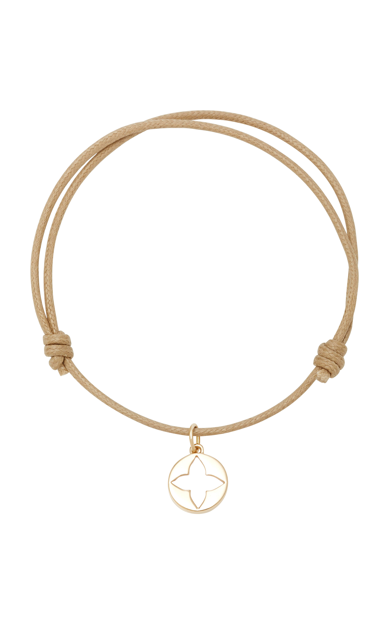WITH LOVE DARLING ROSE GEO 18K GOLD CORD BRACELET