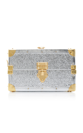PINEL & PINEL | Pinel et Pinel Mini Trunk Metallic Leather Shoulder Bag | Goxip