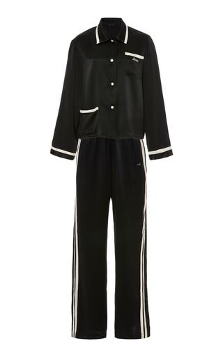 Medium morgan lane black silk charmeuse pajamas set