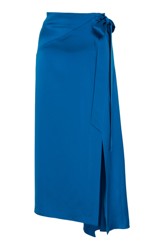 Medium cult gaia blue wraparound split skirt